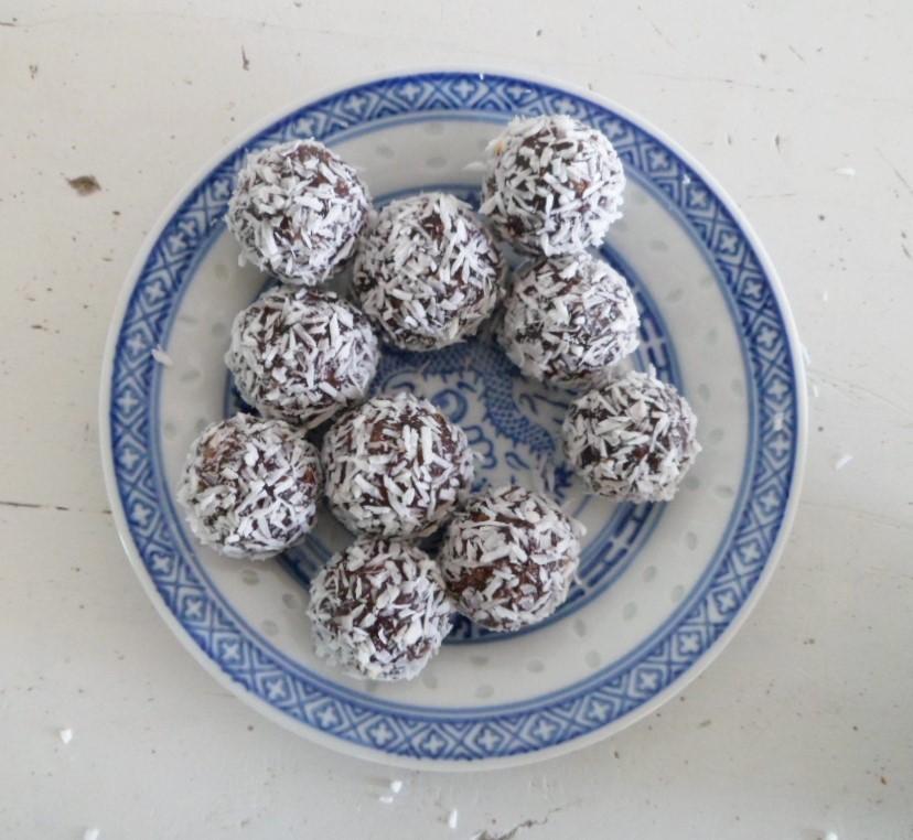 Dadel-kokostruffels I